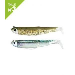 LEURRES FIIISH DOUBLE COMBO SHORE 12GR BLACK MINNOW 120 KAKI PAILLETTE / GHOST MINNOW