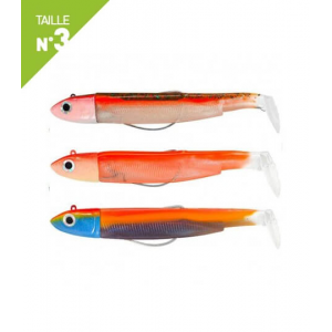 LEURRES FIIISH MAXI COMBO SHORE 125GR BLACK MINNOW 120 CANDY GREEN / ORANGE FLUO / SUNRISE