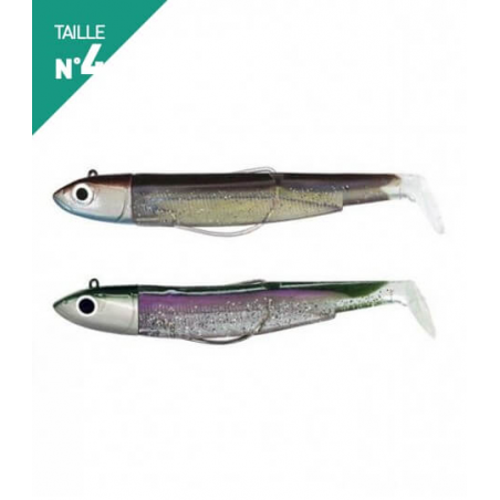 LEURRES FIIISH DOUBLE COMBO OFF SHORE 40GR BLACK MINNOW 140 SEXY BROWN / GREEN MORNING
