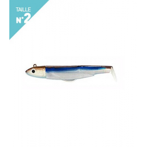 LEURRES FIIISH COMBO OFF SHORE 10GR BLACK MINNOW TAILLE 2 90 CLEAR MORNING